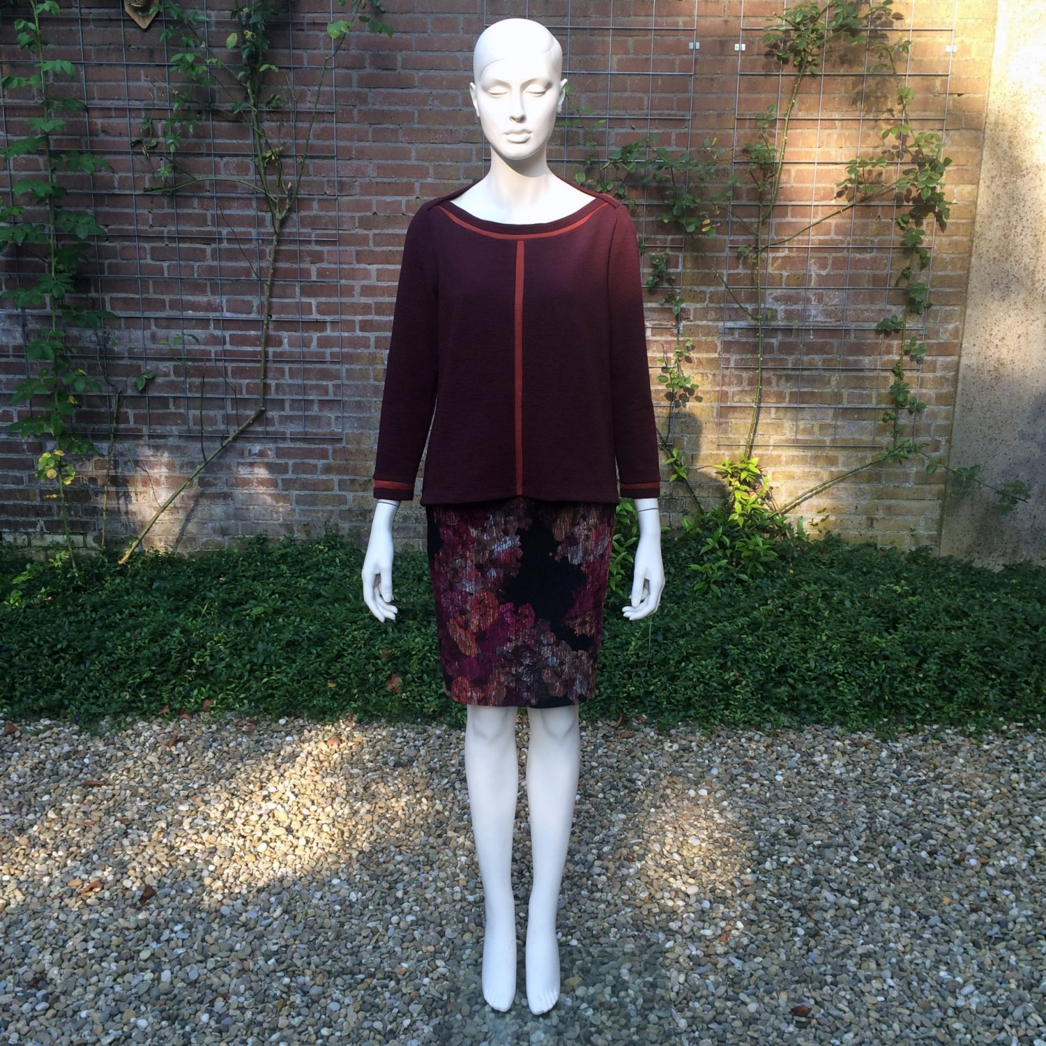 Chris Meijers collectie herfst 2016 shirt en rok 1608